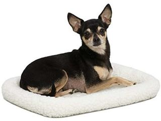 18l Inch White Fleece Dog Bed or Cat Bed w