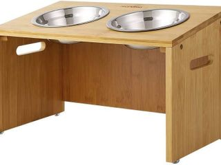 FEANDREA 10 2  H Pet Raised Bowl Feeder Stand