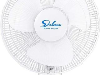 Simple Deluxe 16 inch Wall Mount Fan   3 Speed   3