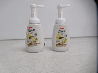 2  Dove Sugar Cane   Vanilla Scented Foaming