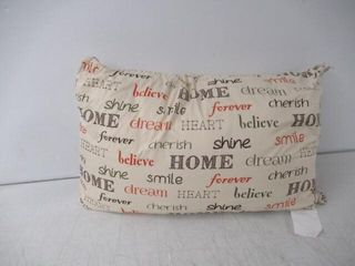 As Is  Printed Words Decorative Pillow  26  x 16