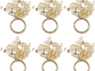 Sparkling Napking Ring Set  6 Piece