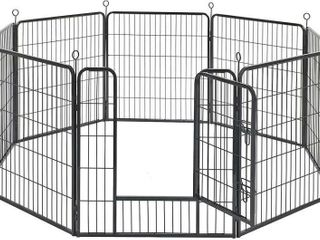 FEANDREA 31 5 H Metal Pet Playpen  8 Panels