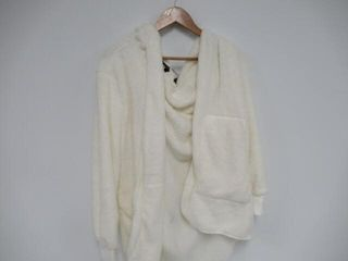 Zilcremo Women Xl Fuzzy Cardigan Winter Hooded