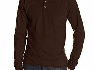 Hanes Men s Xl long Sleeve Beefy Henley T Shirt