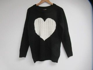 Fashionme Women Classic Sweaters Cute Red Heart