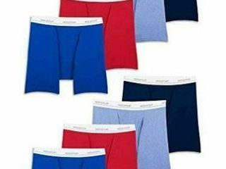 8 Pk Fruit of the loom Men s Active Cotton Blend