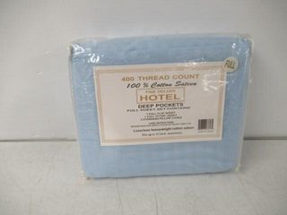 Fine Deluxe Full Sheet Set  4 Piece  light Blue