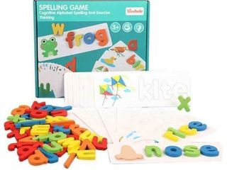 Tizzic 2020 NEW Wooden Words Spelling Puzzle Game