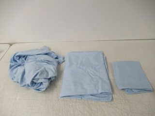 lightly Used  3 Piece Sheet Set  Twin  light Blue