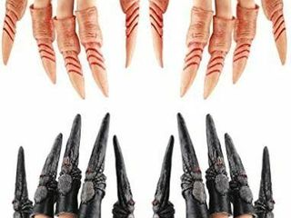 4  20 Pcs Halloween Finger Tip Realistic Costume