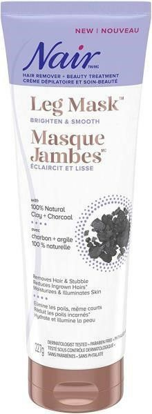 Nair leg Mask with 100  Natural Clay   Charcoal