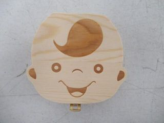 Wooden Baby Tooth Fairy Box for Boys   Teeth