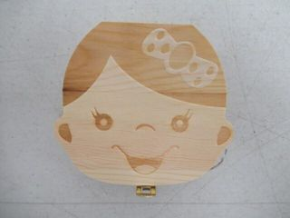 Wooden Baby Tooth Fairy Box for Girls   Teeth