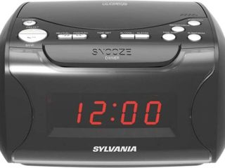 Sylvania Alarm Clock Radio w  CD Player   USB