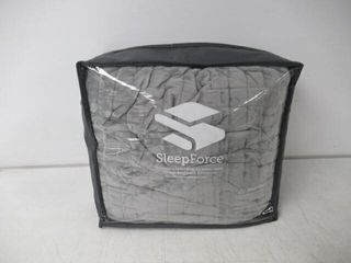 Sleep Force Weighted Blanket  Grey  20lB 48  x
