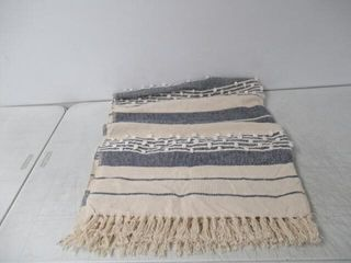 Throw Blanket With Tassles  58  x 48