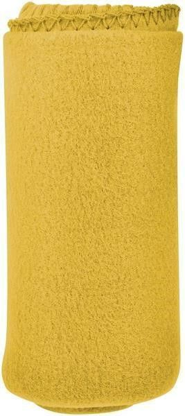 Cozy 50 X 60 Fleece Throw Blanket  Yellow