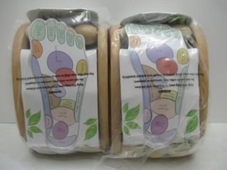 2  Spa Pleasures Wooden Ball Foot Massager