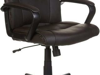 Classic leather Padded Mid Back Office Desk Chair