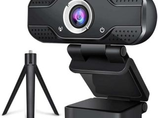 Webcam with Microphone  1080P HD Web Cam w  Extra