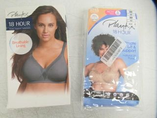 lot of  2  36B Bras Inc  Playtex womens 18 Hour