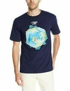 liquid Blue Men s XXl Fragile T Shirt  Navy