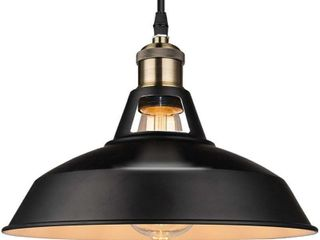 B2ocled 12  Retro Industrial Black Pendant