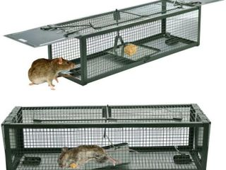 Humane Animal live Cage Rat Cage Trap w  2 Doors