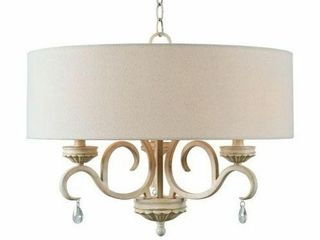 Kenroy Home Marcella 3 light Weathered White