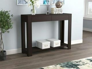 Safdie   Co Console Table with 2 Drawers   1 Shelf