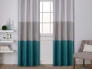 Exclusive Home Curtains Chateau Striped Faux Silk