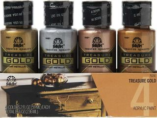 Plaid 4 Bottle Treasure Gold Acrylic Craft Paint