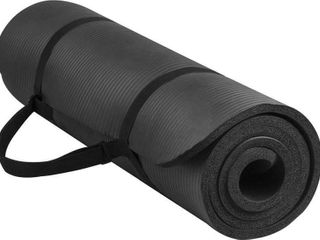 BalanceFrom Yoga Mat w  Carrying Strap  Black
