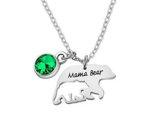 Mama Bear Necklace Mom Necklace Mama and Baby Bear