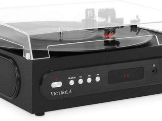 Victrola All in 1 Bluetooth Record Player w  Built