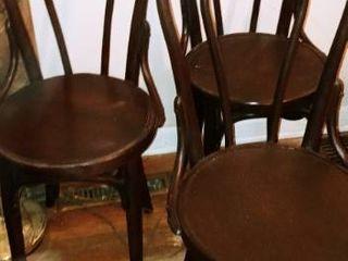 Wood pub chair trio
