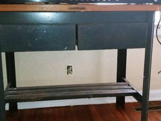 Craftsman metal 2 drawer wood top workbench 33 x 48 x 24 in