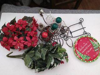 Assorted Christmas decor and lights