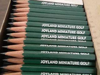 Box of Joyland Miniature Golf pencils