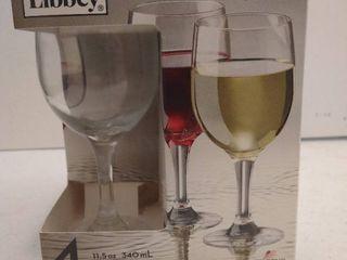 libbey Claret 4pc set wine glasses