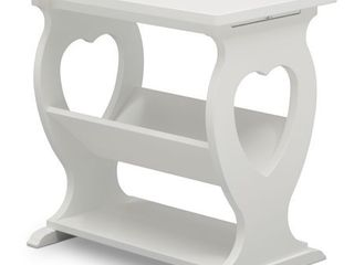 Delta Children Canton End Table Side Table for the Nursery  Bianca White