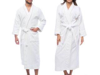 Superior luxurious unisex terry bath robe