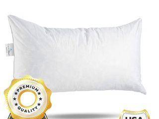 ComfyDown 95  Feather 5  Down  Rectangle Decorative Pillow Insert  Sham Stuffer