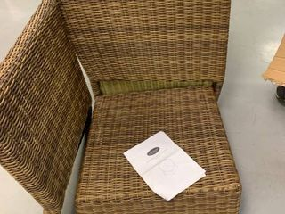 Bradenton Outdoor Wicker Sectional corner chair with Navy Cushions