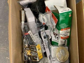 box of plumbing supplies