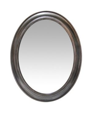 30 inch Decorative Oval Wall Mirror Gray   Infinity Instruments