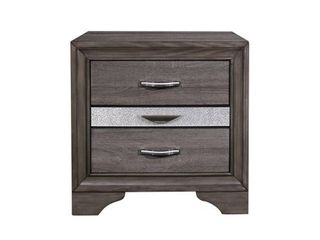Silver Orchid Prince Grey Nightstand  Retail 149 99