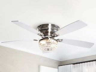 48 inch low Profile Crystal Indoor Ceiling Fan  Retail 179 99
