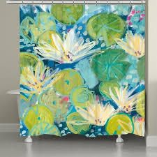 lush lily Pad Shower Curtain  Retail 101 33